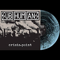 Subhumans- Crisis Point LP (Comes With Stencil, 4 Flexi-EPs, Poster and a Sticker!) (Black & Galaxy Clear Vinyl)