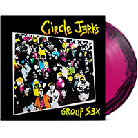 Circle Jerks- Group Sex LP (40th Anniversary Pressing- Pink & Black Vinyl, Comes With 20 Page Booklet)