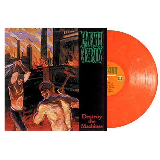 Earth Crisis- Destroy The Machines LP (Orange Vinyl)