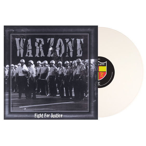Warzone- Fight For Justice LP (White Vinyl)