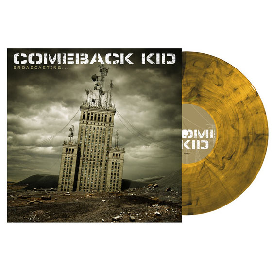 Comeback Kid- Broadcasting LP (Clear Yellow Black Smoke Vinyl)
