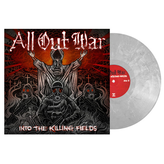 All Out War- Into The Killing Fields LP (Grey Vinyl)