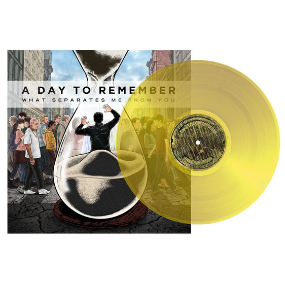 A Day To Remember- What Separates Me From You LP (Clear Yellow Vinyl)