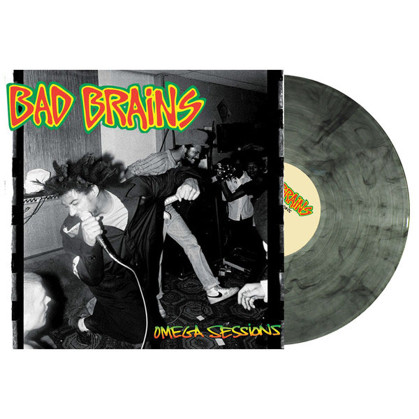 "Bad Brains- The Omega Sessions 12"" (Grey With Black Smoke Vinyl)"