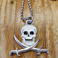 Pirate Skull & Sabres Mobtown Pendant - SALE