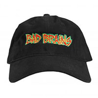 Bad Brains- Rasta Logo on front, PMA on back on a black baseball hat