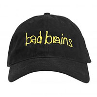 Bad Brains- Yellow Logo on front, PMA on back on a black baseball hat