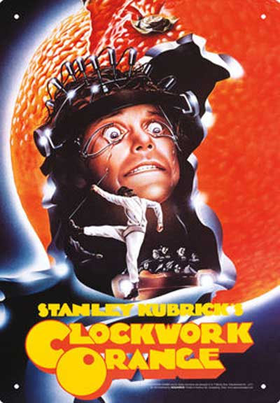 Clockwork Orange- One Sheet Tin Sign