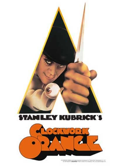 Clockwork Orange- Knife Tin Sign