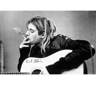 Kurt Cobain- Smoking poster