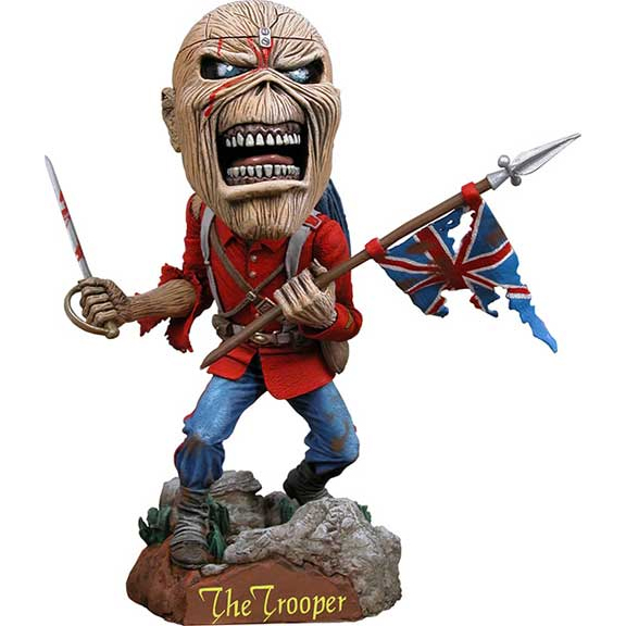 "Iron Maiden- Trooper 8"" Hand Painted Resin Head Knocker"