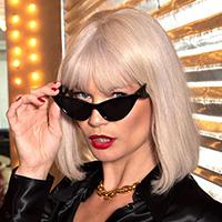 Sugar Pie Atomic 50's Cat Eye Frame Sunglasses - assorted colors #8