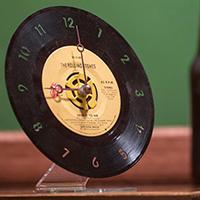 Vintage Recycled 45RPM Desk Clock by Vinylux- Aerosmith