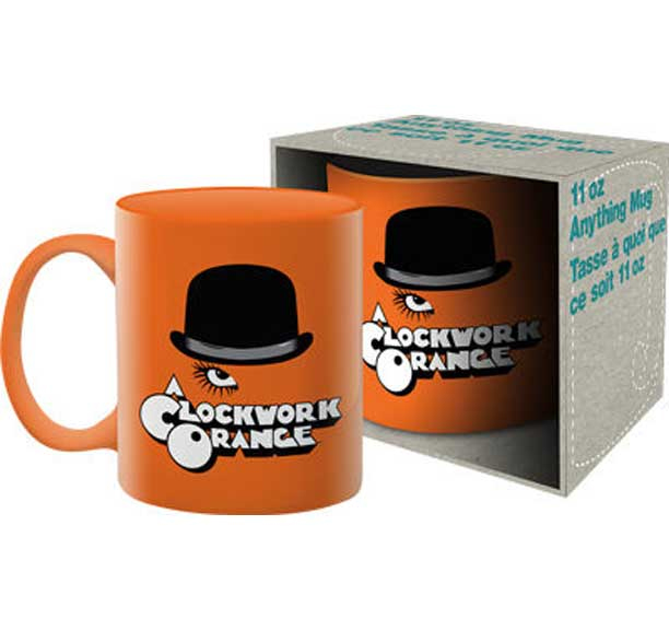 Clockwork Orange- Hat on an orange coffee mug