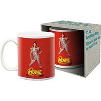 David Bowie- Red Glam Pic coffee mug