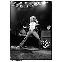 Led Zeppelin- Robert Plant 1975 (Black & White) poster