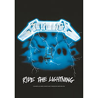 Metallica- Ride The Lightning Fabric Poster/Wall Tapestry/Flag