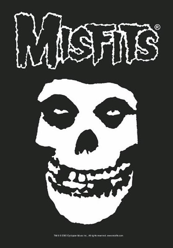 Misfits- Crimson Ghost Skull Fabric Poster/Wall Tapestry