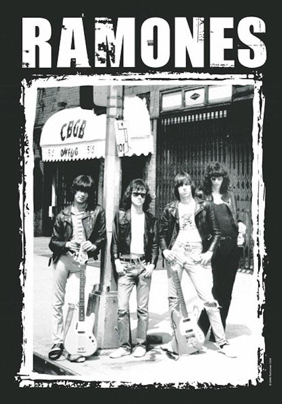 Ramones- CBGB Pic Fabric Poster