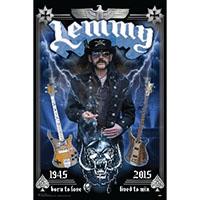 Lemmy (Motorhead)- 1945-2015 (Lemmy With Guitars) poster