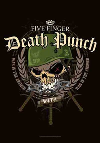Five Finger Death Punch- Warhead Fabric Poster/Wall Tapestry