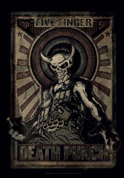 Five Finger Death Punch- Mercenary Fabric Poster/Wall Tapestry
