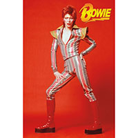 David Bowie- Red Glam Pic poster