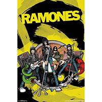 Ramones- Road To Ruin Cartoon poster (B10)
