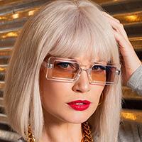 Presence Large Rectangular Frame Sunglasses - assorted colors #15