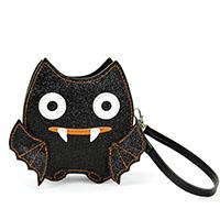 Sleepyville Glittery Vampire Bat Wristlet