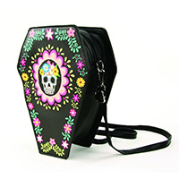 Sugar Skull Coffin Convertible Crossbody Bag / Backpack by Comeco
