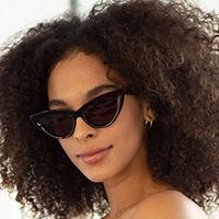 Fever Retro Cat Eye Frame Sunglasses - assorted colors #3