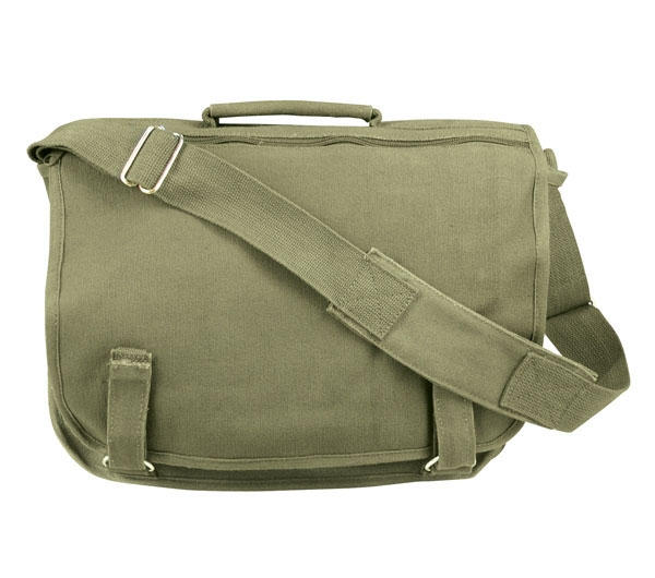 European School Bag by Rothco- OLIVE