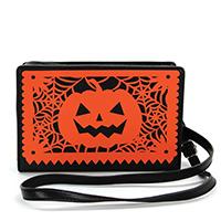 Pumpkin Papel Picado Clutch Bag by Comeco