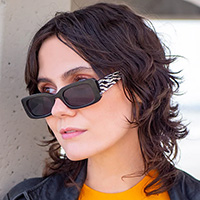 Ice Queen 50's Rectangular Frame Sunglasses - assorted colors #18