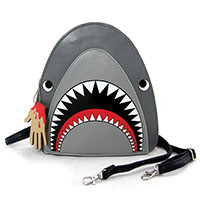 Sleepyville Critters Scary Shark Crossbody Bag