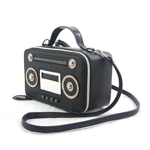 Vintage Radio Satchel Shoulder Bag by Comeco