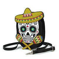Sombrero Sugar Skull Shoulder Bag by Comeco