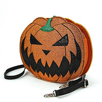Sleepyville Two Faced Jack O Lantern Shoulder Bag by Comeco