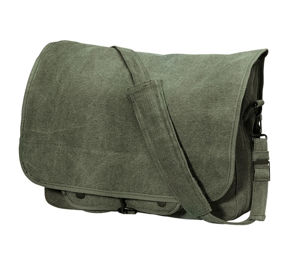 Vintage Canvas Paratrooper Bag by Rothco- OLIVE DRAB