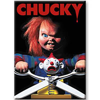 Childs Play- Chucky With Scissors magnet