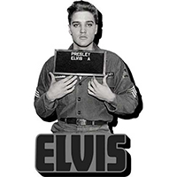 Elvis Presley- Enlistment Picture chunky magnet