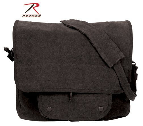 Vintage Canvas Paratrooper Bag by Rothco- BLACK