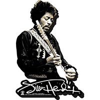 Jimi Hendrix- Playing Guitar chunky magnet