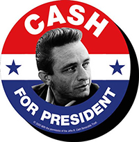 Johnny Cash- For President chunky magnet