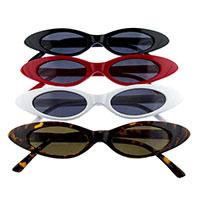 Women's Retro Slim Cat Eye Sunglasses (Various Colors)