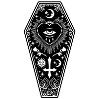 All Seeing Eye Coffin Shaped Beach Towel - Too Fast Clothing