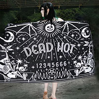 Dead Hot Quija Oversized Beach Towel - Too Fast Clothing