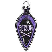 Poison Bottle Shaped Beach Giant Towel - Too Fast Clothing