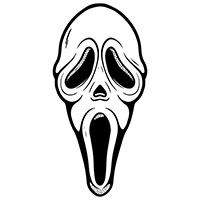 Ghost Face Scream Shaped Beach Giant Towel - Too Fast Clothing